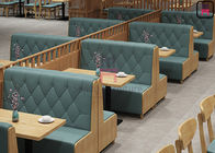 Plywood Veneer 1cbm Restaurant Bench Seating With 4 Rows Button