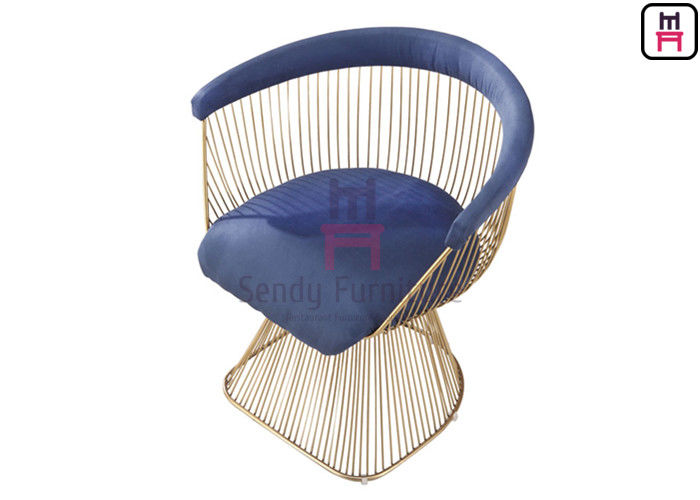 Warren Platner Stainless Steel Chairs Replica Classic With Fabric & Leather Cushion